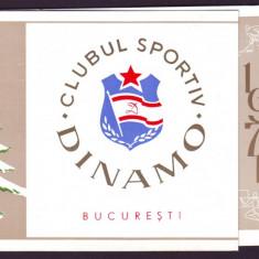 1971 Felicitare La Multi Ani, Clubul Sportiv DINAMO Bucuresti, emblema - Hartie cu Antet