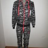 Trening dama negru cu alb Adidas marimi S, M, L+CADOU, Culoare: Din imagine