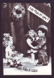 1972 Felicitare foto cu papusi Aradeanca, semnata de Cerchezan presedinte AVSAP