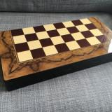 Set joc table lux lemn lacuit 48x24 cm optional piese sah zaruri os