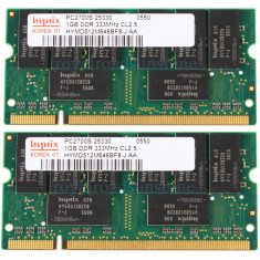 Memorie laptop RAM DDR1 1gb Hynix 333Mhz PC2700 (NOU) - Memorie RAM laptop