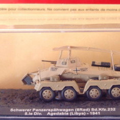Macheta tanc Schwerer Panzerspahwagen - Agedabia - 1941 scara 1:72 - Macheta auto