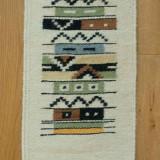 Tapiserie, Covor, carpeta tesuta manual, lana 100%, ecologica