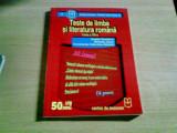 TESTE DE LIMBA SI LITERATURA ROMANA CLASA A VIII -A -AMALIA DUMITRIU SI ALTII