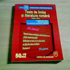 TESTE DE LIMBA SI LITERATURA ROMANA CLASA A VIII -A -AMALIA DUMITRIU SI ALTII, Alta editura