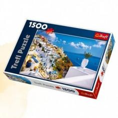 Puzzle Peisaj Santorini.Grecia - 1500pcs