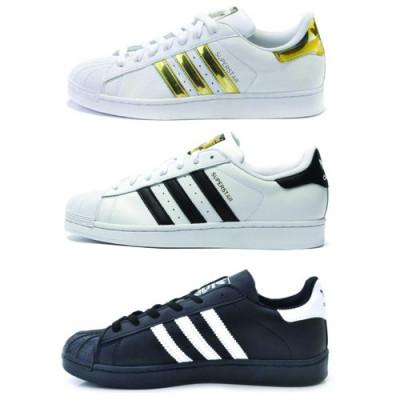 hot sale online a34ec 7c04d Adidasi Adidas Superstar Alb, Negru, Auriu foto