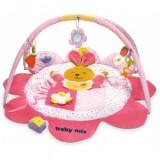 Covoras de joaca pentru bebelusi Baby Mix - Iepuras Roz