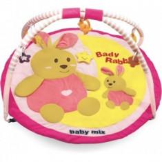 Covoras de joaca pentru bebelusi Baby Mix - Iepuras - Jucarie pentru patut