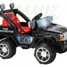 Masina cu Acumulator Humer - Negru cu Rosu - Masinuta electrica copii