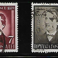 LP 130-Mihai Eminescu -stampilat-160 - Timbre Romania