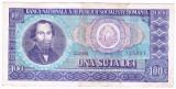 1) Bancnota 100 Lei 1966 portret Balcescu