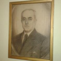 Tablou vechi in creion semnat Spengler 1945 - Tablou autor neidentificat, Portrete, Carbune, Realism
