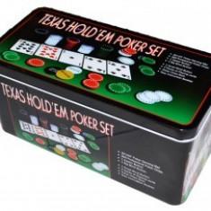 Joc Societate - Poker plastic + metal + textil - Jocuri Logica si inteligenta