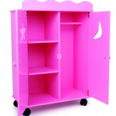Dulap pentru papusi roz SMALL FOOT COMPANY