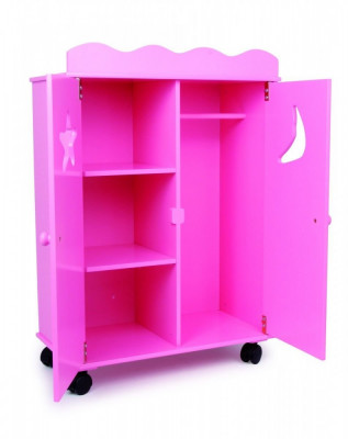 Dulap pentru papusi roz SMALL FOOT COMPANY foto