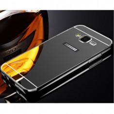 Bumper Samsung Galaxy A3 A310 (2016) Aluminiu Mirror Black - Bumper Telefon
