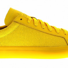Adidasi Adidas Court Vantage Adicolor marimea 42 si 43 1/3 - Adidasi barbati, Culoare: Galben, Piele naturala