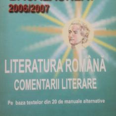 BACALAUREAT LITERATURA ROMANA COMENTARII LITERARE - Cecilia Stoleru - Teste Bacalaureat