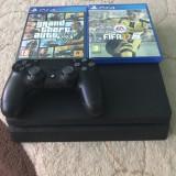 Vand PlayStation 4 SLIM - 500GB cu 2 jocuri