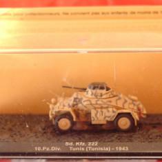 Macheta tanc Sd.Kfz. 222 - Tunis - 1943 scara 1:72 - Macheta auto
