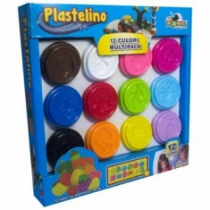 Plastelino - Multipack (12 culori) - Jocuri arta si creatie Noriel
