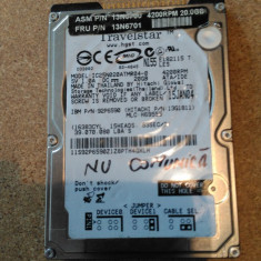 "HDD LAPTOP HITACHI IDE 2.5"" 20GB IC25N020ATMR04-0 DEFECT, Sub 40 GB"