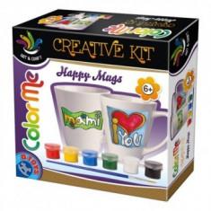 Joc de Creatie - ColorMe - Cesti de Ceai de Pictat - Jocuri arta si creatie D-Toys