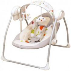 Balansoar Electric BabyMix - Gri - Masuta/scaun copii