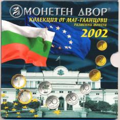 BULGARIA - 2002: SET MONETARIE 7 MONEDE + TOKEN ARGINT, PROOF, KMPS8