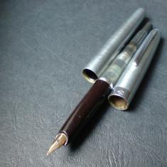 Stilou rusesc Soiuz cu penita din aur, stilou la cutie cu certificat