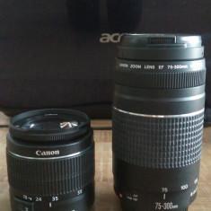 Obiectiv Canon EF 75-300mm f/4-5.6 III + Canon EF-S 18-55mm ... - Obiectiv DSLR