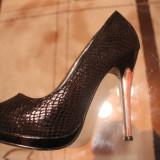 Pantofi - Pantof dama, Culoare: Negru, Marime: 36