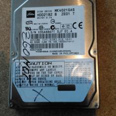 """HDD LAPTOP TOSHIBA IDE 2.5"""" 40GB MK4021GAS DEFECT, Sub 40 GB"""