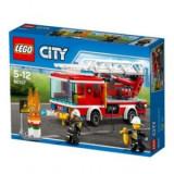 Camion de pompieri cu scara Lego City, 214pcs