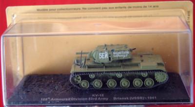 Macheta tanc KV-1E - Briansk - 1941 scara 1:72 foto