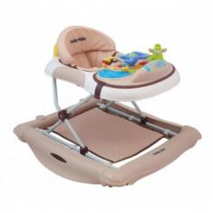 Premergator Balansoar BabyMix - Crem - Masuta/scaun copii