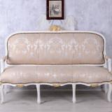 SOFA 3 LOCURI DIN LEMN MASIV ALB SI TAPISERIE GREJ, Sufragerii si mobilier salon, Baroc