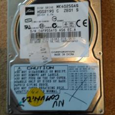"""HDD LAPTOP TOSHIBA IDE 2.5"""" 40GB MK4025GAS DEFECT, 41-80 GB"""