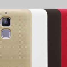 Husa Asus Zenfone 3 Max ZC520TL Super Frosted + Folie Protectie Nillkin Gold