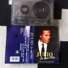 JULIO IGLESIAS la mia vita i miei successi caseta audio muzica pop latino, Casete audio
