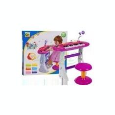 Orga Muzicala cu Scaunel - Roz - Instrumente muzicale copii