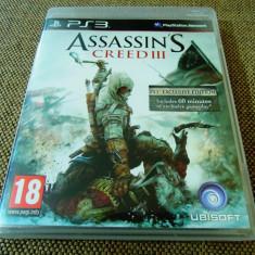 Joc Assassin's Creed III, PS3, original, alte sute de jocuri! - Jocuri PS3 Altele, Actiune, 18+, Single player