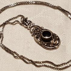 Medalion argint Splendid art nouveau Franta 1900 Superb pe Lant argint vechi