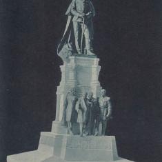 IASI STATUIA CUZA - VODA, LIBRARIA F. SARAGA, IASI - Carte Postala Moldova dupa 1918, Necirculata, Printata