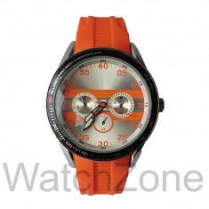 Ceas Unisex McLaren Precision Cronograph Portocaliu, Inox, Silicon