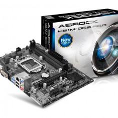 Placa de baza ASROCK Socket LGA1150, H81M-DGS R2.0, Intel H81, 2*DDR3 1600/1333/1066, VGA/DVI, 1*PCIEx2.0 x16, 1*PCIEx2.0 x1, 2*SATA3, 2*SATA2, bulk, Pentru INTEL, MicroATX