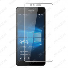 Folie sticla securizata protectie smartphone Microsoft Lumia 550 Crystal Antisoc - Folie de protectie Microsoft, Anti zgariere