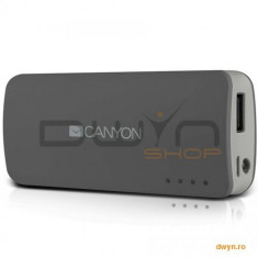 Baterie externa Canyon CNE-CPB44DG 4400mAh Dark grey