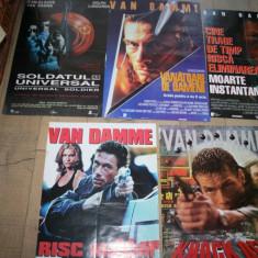 Vand  5 afise de cinema originale JEAN CLAUDE VANDAMME